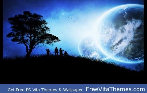 Blue night PS Vita Wallpaper