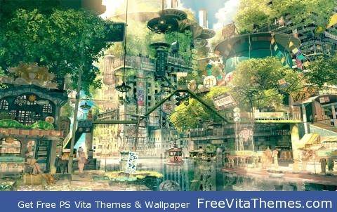 Naruto Village PS Vita Wallpaper