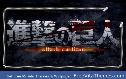 Attack On Titan Logo Lockscreen PS Vita Wallpaper