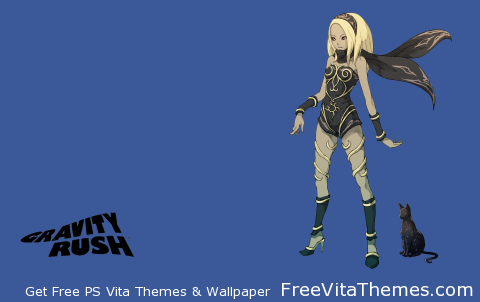 Gravity Rush Transparent PS Vita Wallpaper