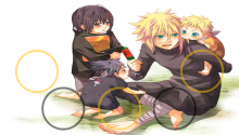 Download minato , itachi , sasuke & naruto PS Vita Wallpaper