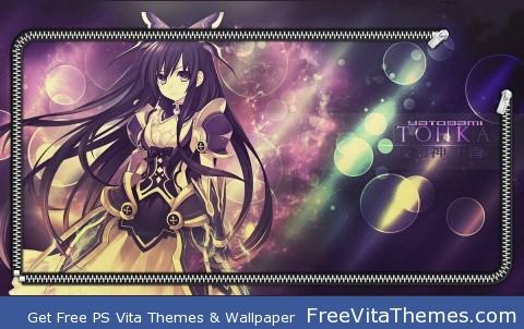 Tohka Date A Live Screenlock PS Vita Wallpaper