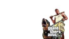 Download GTA 5 Franklin & Chop Transparent PS Vita Wallpaper