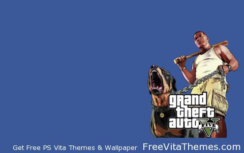 GTA 5 Franklin & Chop Transparent PS Vita Wallpaper