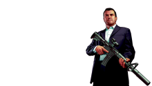 Download GTA 5 Michael Transparent PS Vita Wallpaper