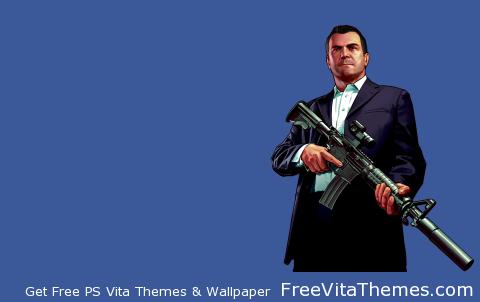 GTA 5 Michael Transparent PS Vita Wallpaper