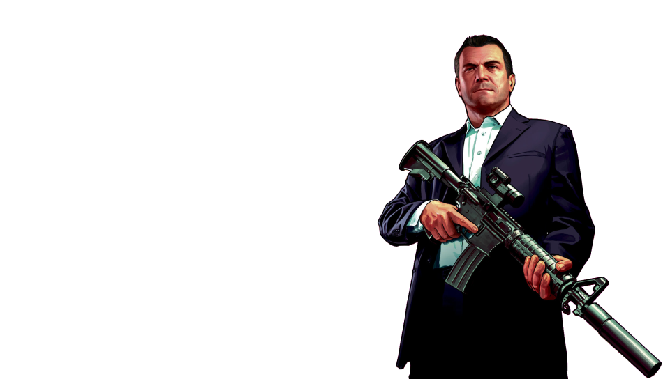 GTA 5 Michael Transparent PS Vita Wallpapers - Free PS Vita