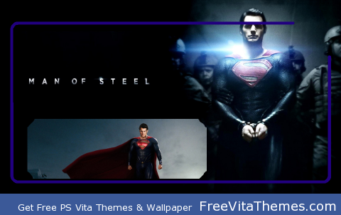 Man Of Steel Lockscreen PS Vita Wallpaper