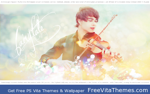 Alexander Rybak PS Vita Wallpaper
