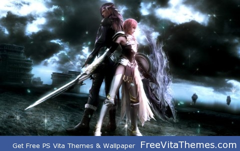 Lightning & Caius lock in battle PS Vita Wallpaper