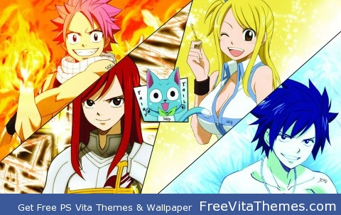 Fairy Tail Top.4 Characters PS Vita Wallpaper