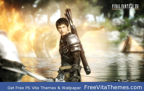 Final Fantasy XIV – The Male Warrior PS Vita Wallpaper