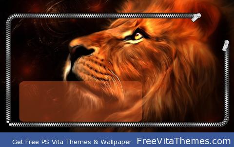 Lion Lockscreen PS Vita Wallpaper