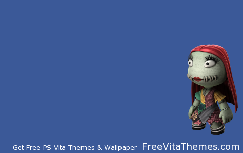 LBP Nightmare Before Christmas Sally Transparent PS Vita Wallpaper