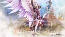 Download Aion Fantasy CG Archer Girl PS Vita Wallpaper