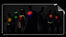 Download Justice League Silhouettes PS Vita Wallpaper