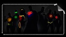 Download Justice League Silhouettes PS Vita Wallpaper