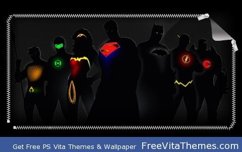 Justice League Silhouettes PS Vita Wallpaper