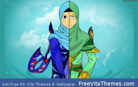 2 Heroine In 1 person PS Vita Wallpaper