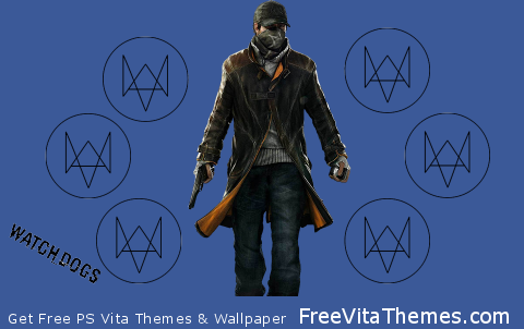 Watch Dogs Animated with Buttons PS Vita Wallpaper