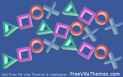 Playstation Symbols Transparent PS Vita Wallpaper