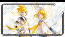 Download Xperia feat Hatsune MIku Rin Len Lockscreen PS Vita Wallpaper