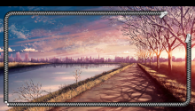 Download Anime Sunset Lockscreen PS Vita Wallpaper
