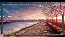 Download Anime Sunset Lockscreen PS Vita Wallpaper