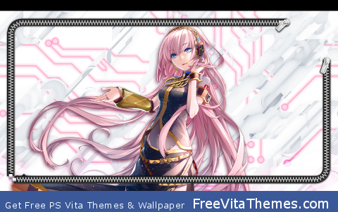 Xperia feat Hatsune Miku Luka Locksreen PS Vita Wallpaper