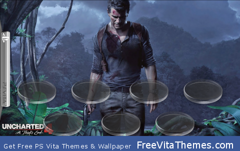 Uncharted 4 A Thief's End Icon Stands PS Vita Wallpaper