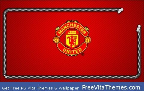 manchester united zipper lock screen PS Vita Wallpaper