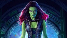 Download Zoe Saldana As Gamora PS Vita Wallpapers