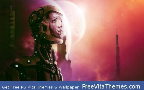 Robotic Woman PS Vita Wallpaper