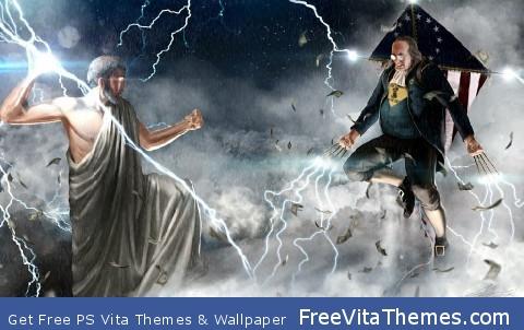 Franklin vs Zeus PS Vita Wallpaper