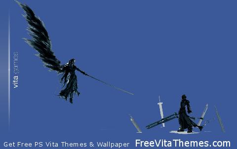 Sephiroth and cloud PS Vita Wallpaper