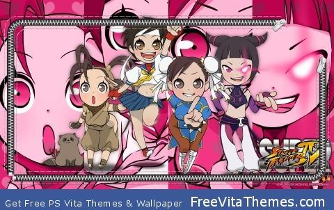 Street fighter Chibi PS Vita Wallpaper
