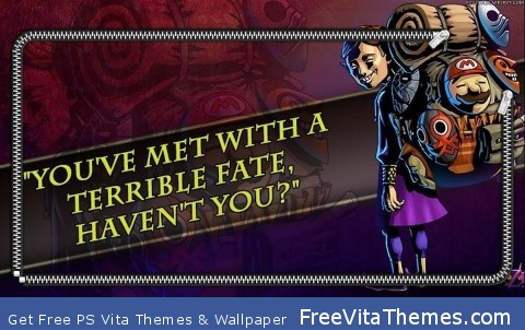 """You've met with a terrible fate haven't you?"" PS Vita Wallpaper"