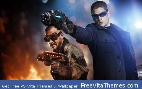 Captain Cold & Heat PS Vita Wallpaper