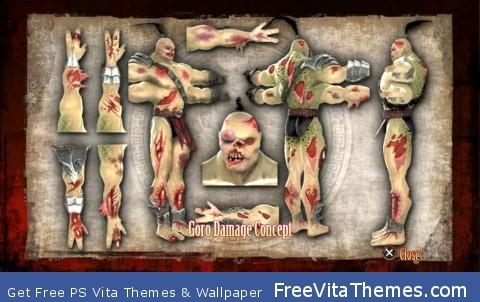 goro's damage PS Vita Wallpaper
