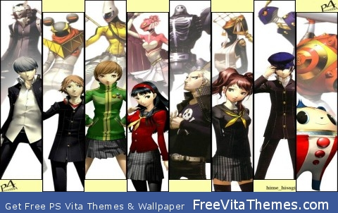 Persona 4 full party PS Vita Wallpaper
