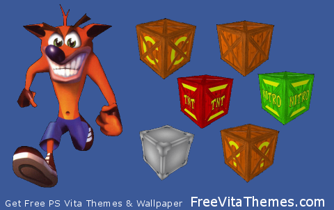 Crash Boxes PS Vita Wallpaper