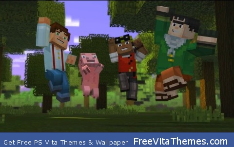 minecraft story mode PS Vita Wallpaper