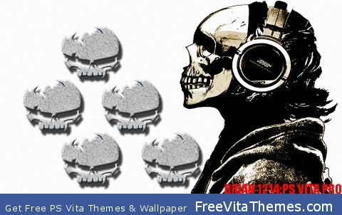 Skull theme PS Vita Wallpaper